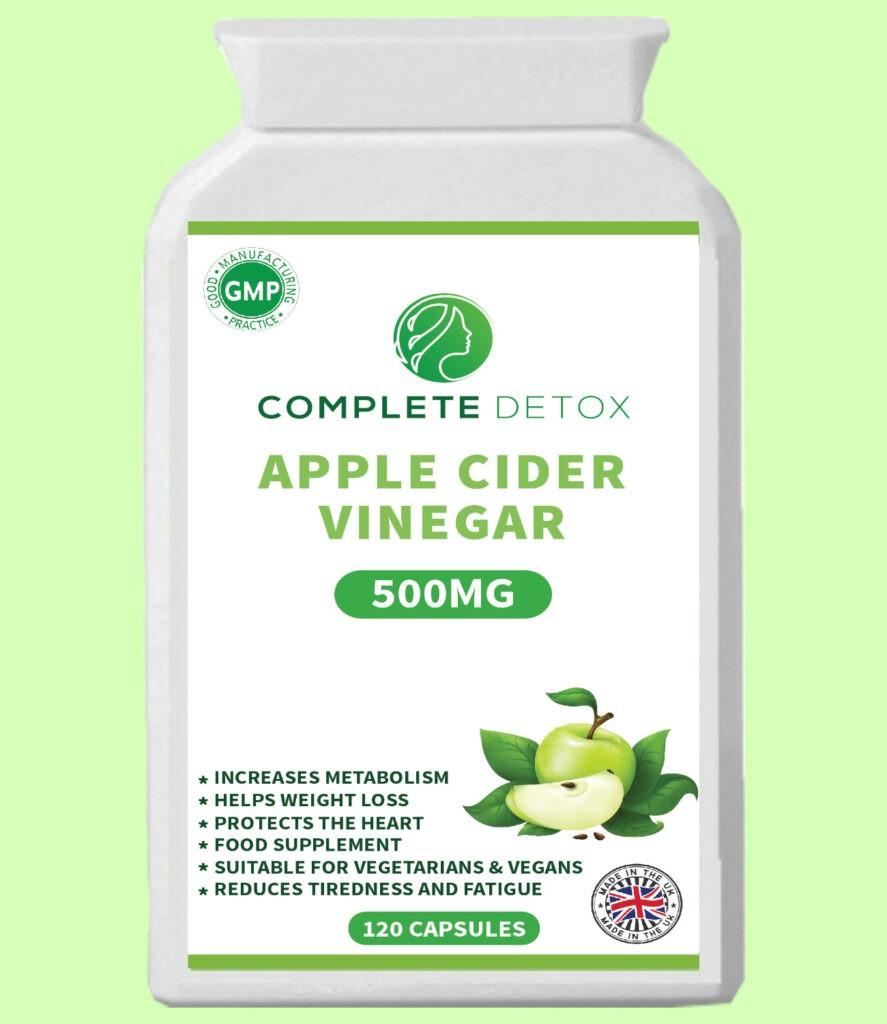 Apple Cider Vinegar Capsule Weight Loss Vegan Supplement Slimming Aid Fat Burner