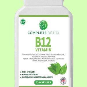 Vitamin B12 High Strength 120 Capsules 1000mg Supplement For Tiredness & Fatigue