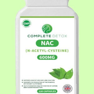 NAC N-Acetyl-Cysteine Liver & Lung Function 600mg 120 Capsules Immune Support